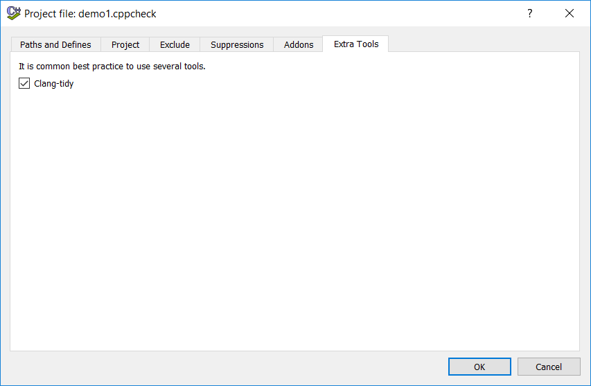 Cppcheck: Running clang-tidy on visual studio projects in